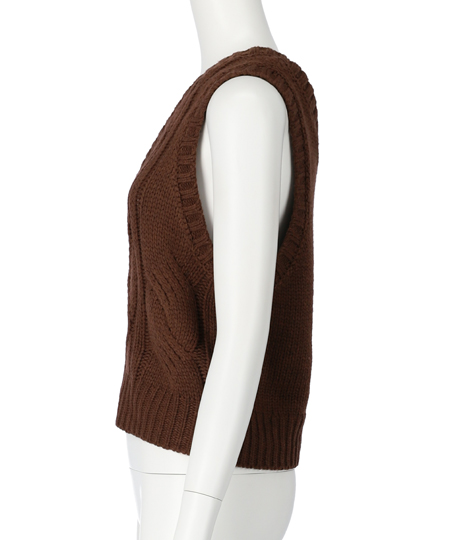 ワンショルダーケーブルニットトップス(バッグ・鞄・小物/ニット/セーター) | Settimissimo