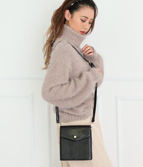 パールボタンポイントショルダーバッグ(バッグ・鞄・小物/ショルダーバッグ) | CHILLE