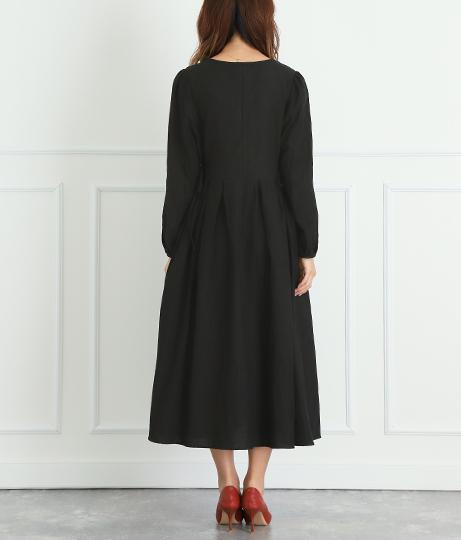 サイドリボン袖パフスリーブワンピース(ワンピース・ドレス/ミディアムワンピ) | CHILLE