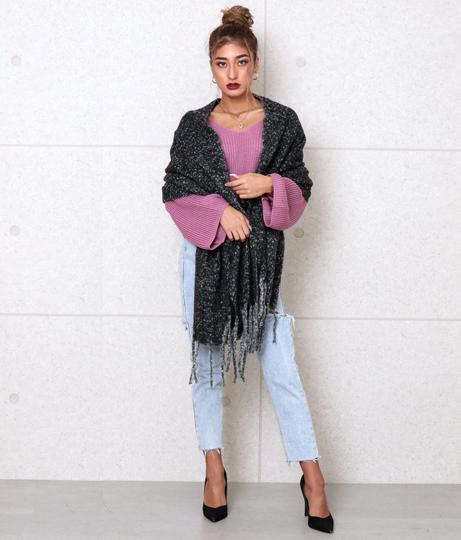 ソフトタッチブークレストール(ファッション雑貨/マフラー・ストール ・スヌード・スカーフ ) | anap Latina