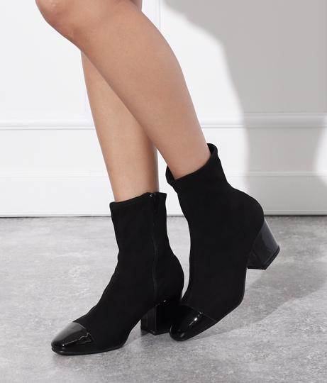 キャップトゥバイカラーショートブーツ(シューズ・靴/ブーツ) | Anap USA
