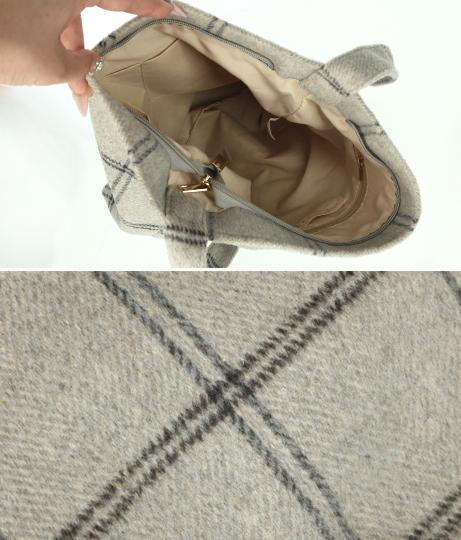 チェックトートバッグ(バッグ・鞄・小物/トートバッグ) | anap mimpi