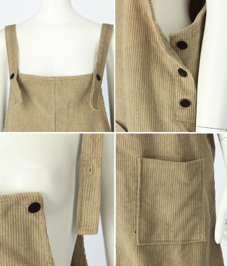 コーデュロイジャンパースカート(ワンピース・ドレス/ミディアムワンピ) | anap mimpi