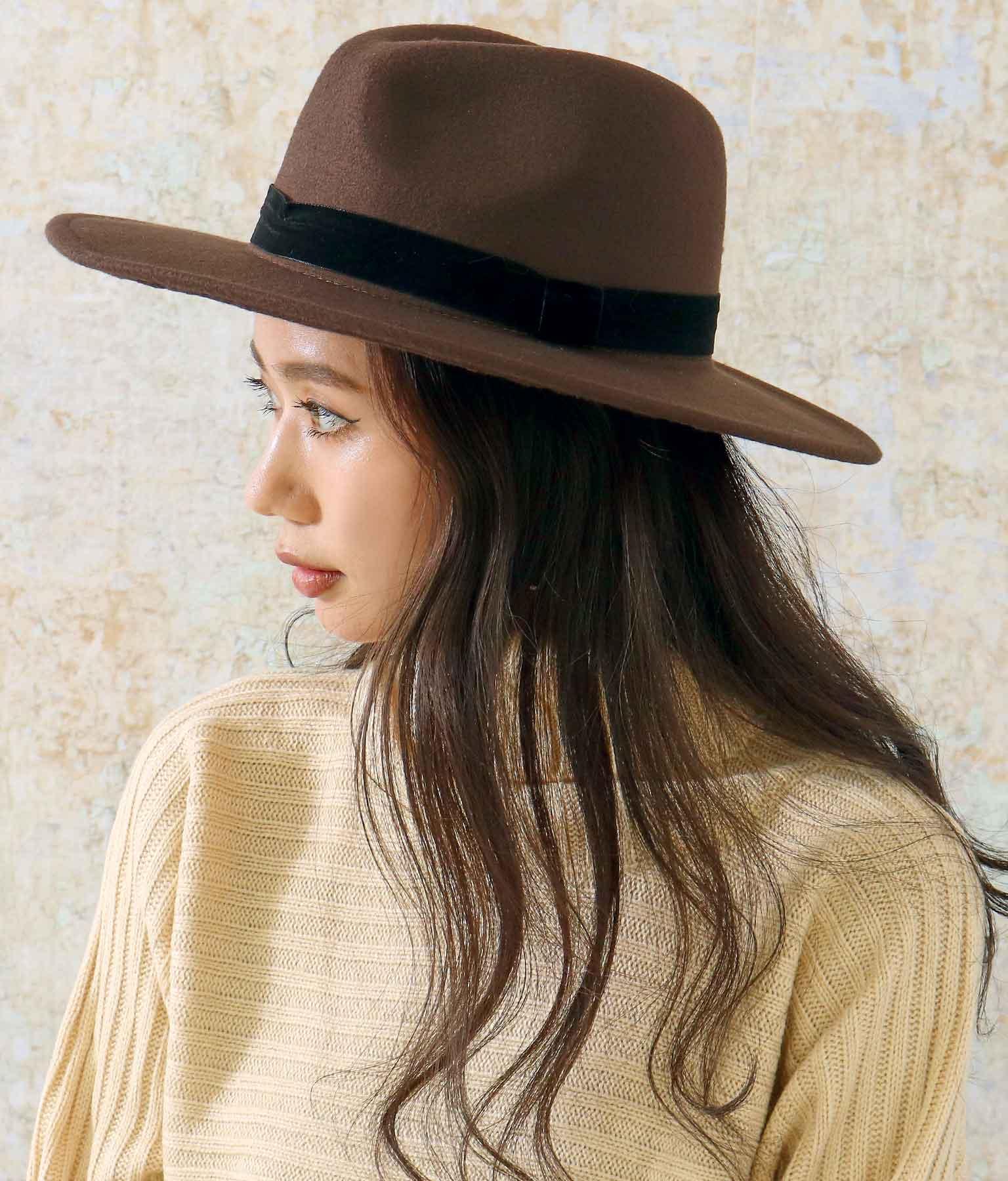 ベロアテープウールライクハット(ファッション雑貨/ハット・キャップ・ニット帽 ・キャスケット・ベレー帽) | ANAP
