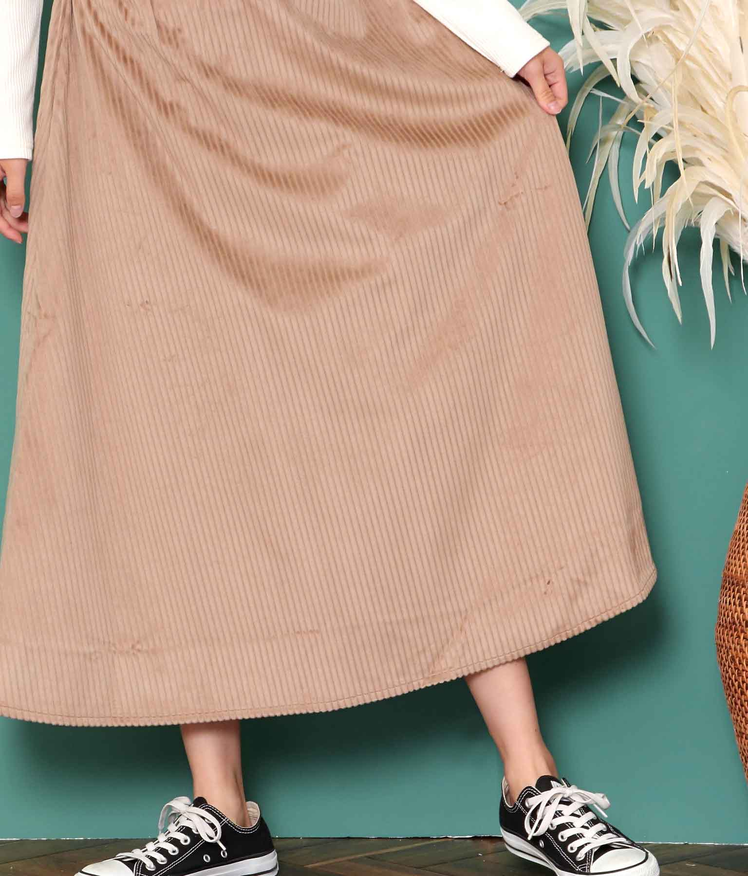 コーデュロイフレアロングスカート(ボトムス・パンツ /ミモレ丈スカート・スカート) | anap mimpi