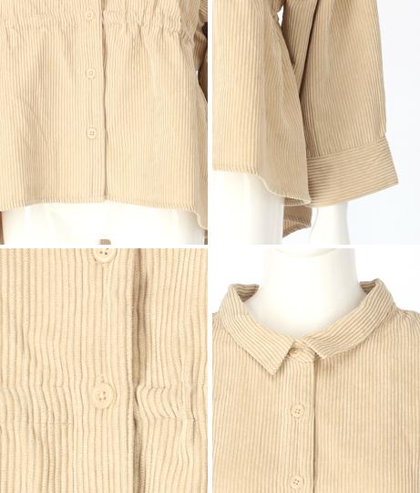 ドロストコーデュロイシャツ(トップス/チュニック・シャツ・ブラウス)   CHILLE