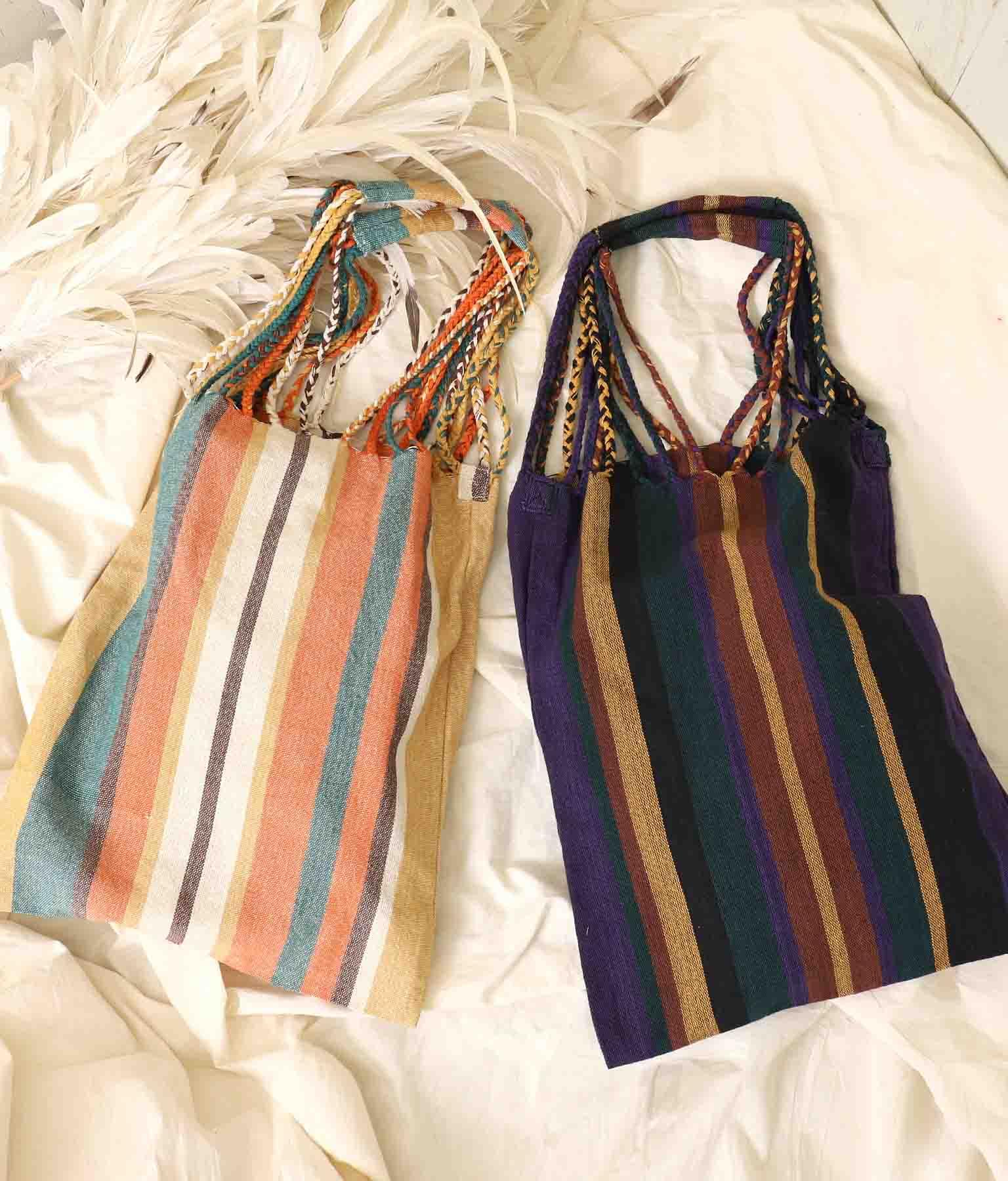 カラフルストライプショルダーバッグ(バッグ・鞄・小物/ショルダーバッグ・トートバッグ) | anap mimpi