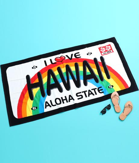 ハワイアンビーチタオル
