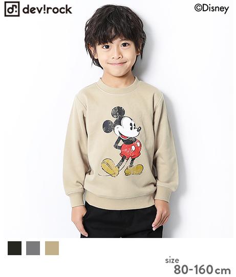 子供服 キッズ Disney ディズニー ミッキー柄スウェットトレーナー 男の子 女の子 ベビー トップス 長袖 長そで 韓国子供服