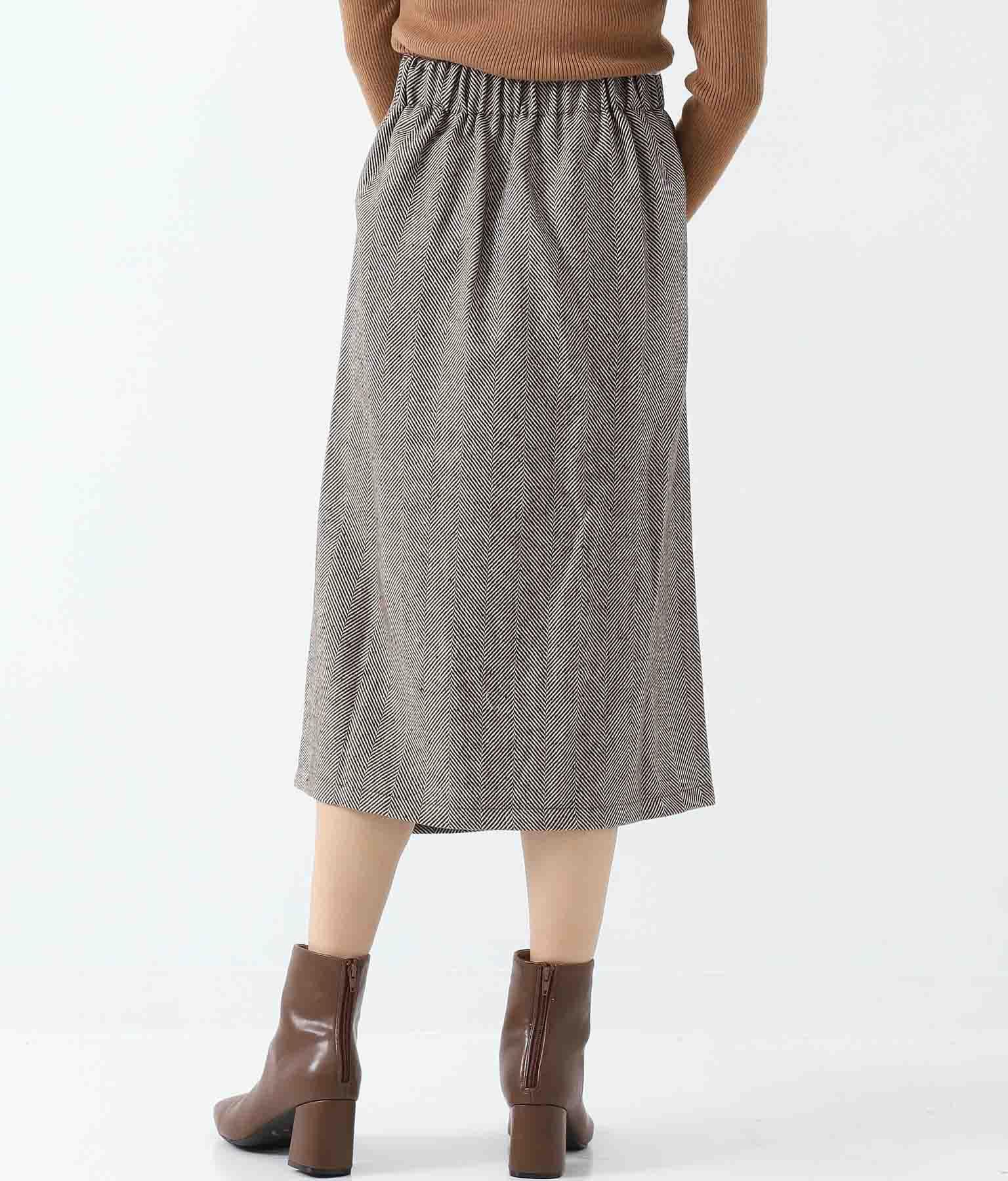 ヘリンボンツイードサス付スカート(ボトムス・パンツ /スカート) | Alluge