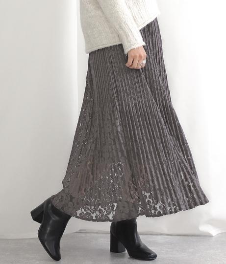 プリーツレーススカート(ボトムス・パンツ /スカート) | Alluge
