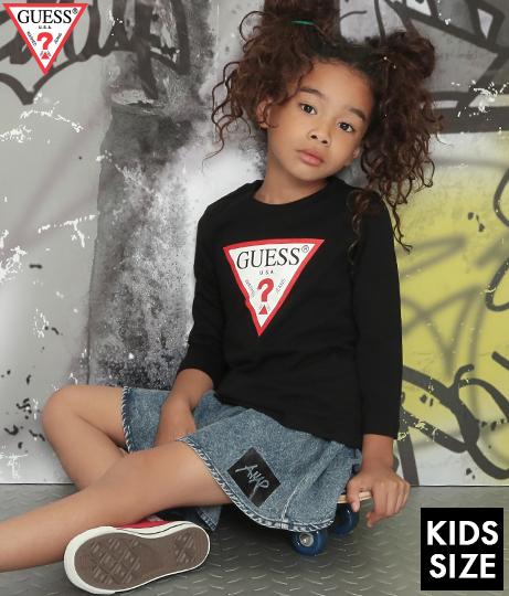 GUESS KIDS L/SLV TEE SHIRT W/ORIGINAL TRIANGLE LOGO