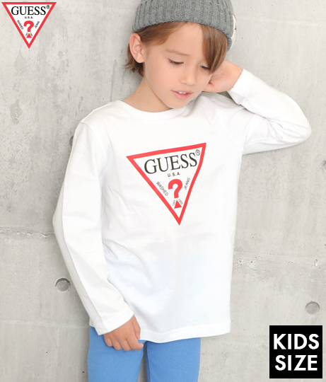 GUESS KIDS L/SLV TEE SHIRT W/ORIGINAL TRIANGLE LOGO