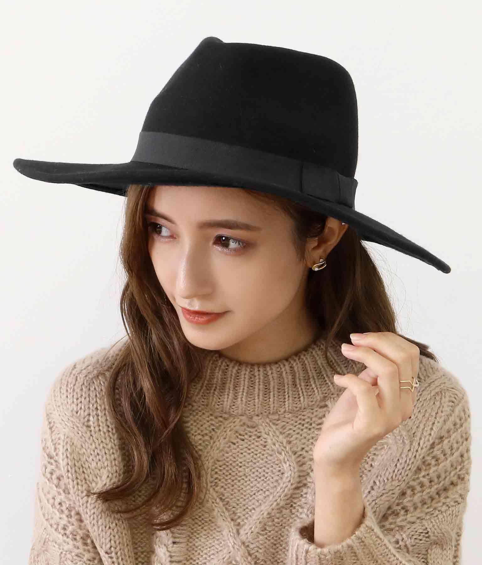 リボンデザインウールハット(ファッション雑貨/ハット・キャップ・ニット帽 ・キャスケット・ベレー帽) | CHILLE