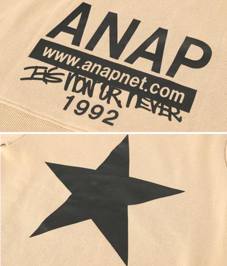 バックロゴ星プリントトレーナー   ANAP KIDS