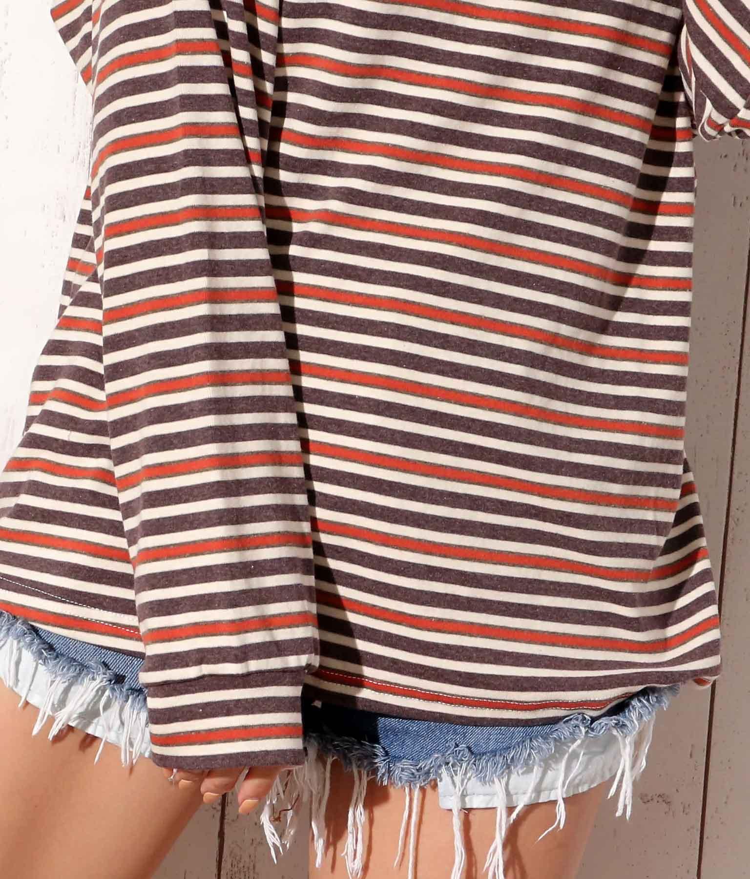 ボーダーロングTシャツ | anap mimpi