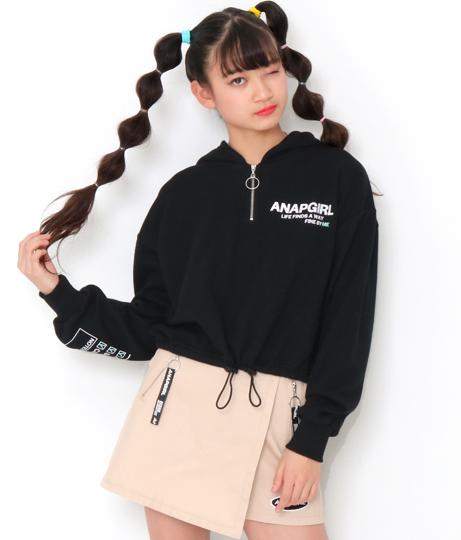 ジップ付ショート丈フーディー | ANAP GiRL