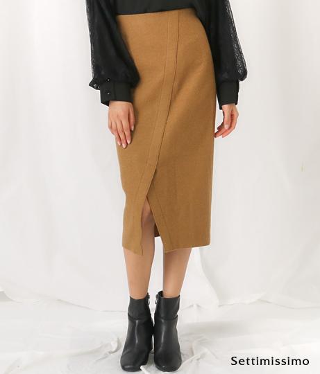 dollysean圧縮ブークレスリットタイトスカート