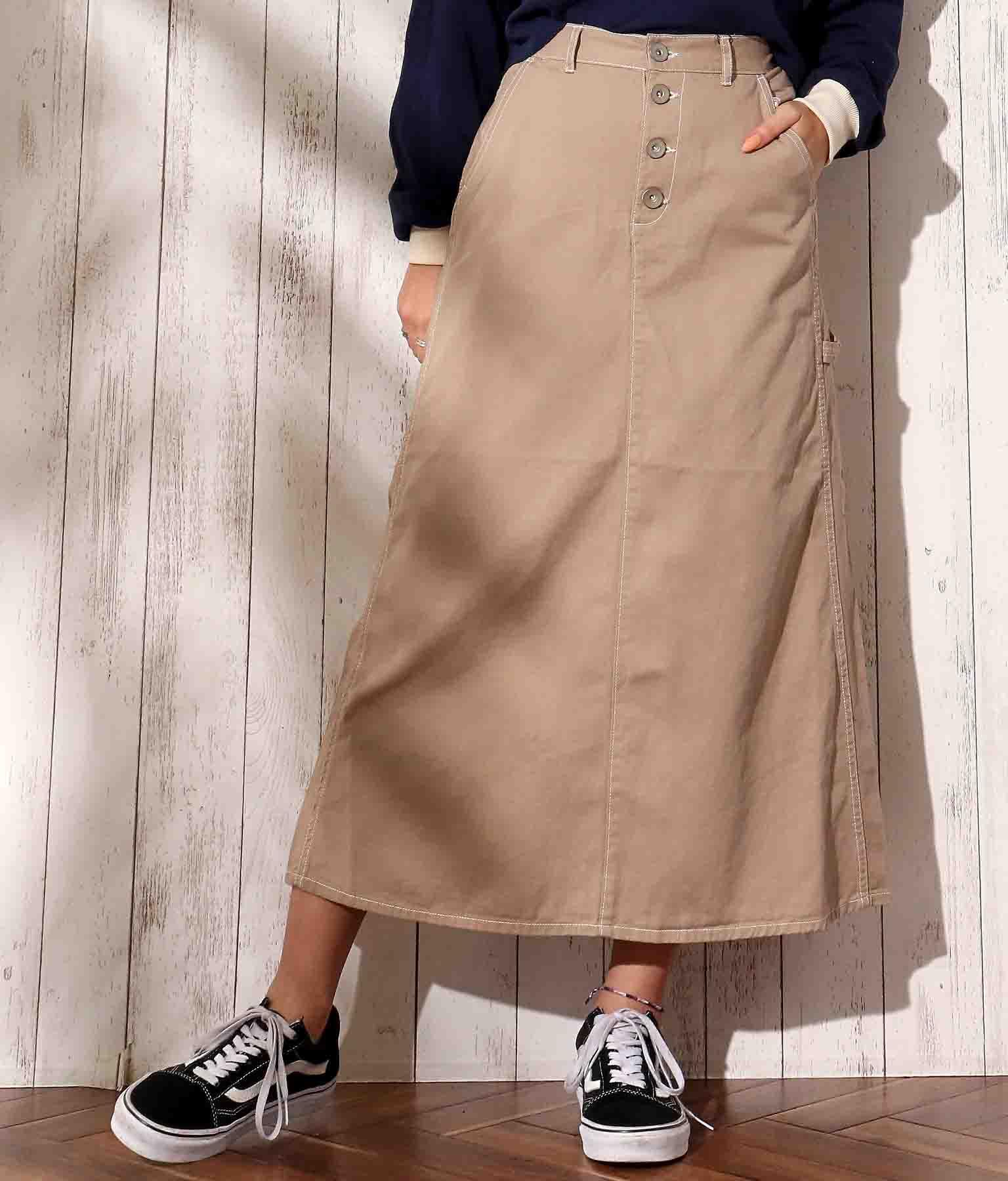 チノツイルロングスカート