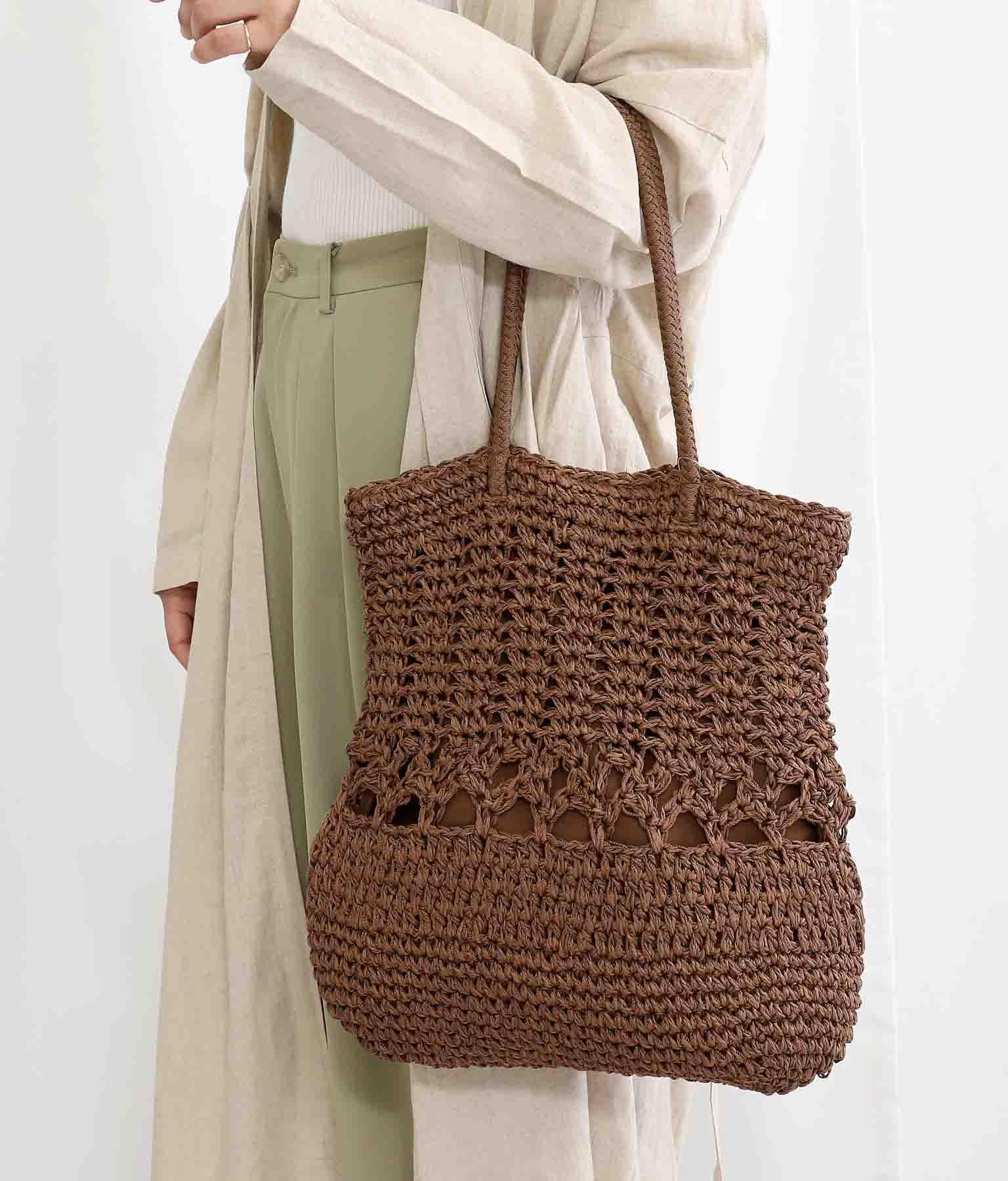 ペーパー柄編みトートバッグ(バッグ・鞄・小物/トートバッグ) | Alluge