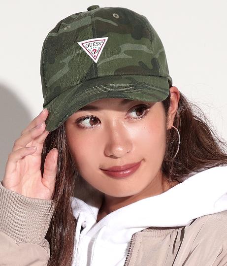 GUESS CTTN TWILL BALL CAP W/ORIGINAL LABEL(ファッション雑貨/ハット・キャップ・ニット帽 ・キャスケット・ベレー帽)   GUESS