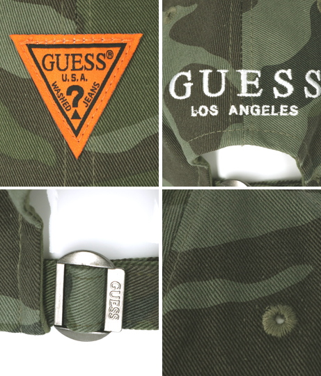 GUESS CTTN TWILL BALL CAP W/ORANGE LABEL(ファッション雑貨/ハット・キャップ・ニット帽 ・キャスケット・ベレー帽) | GUESS