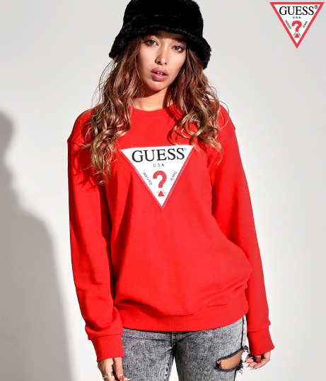 GUESS MEN'S L/SLV SWEATSHIRT