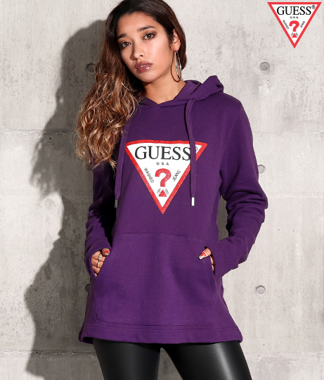 GUESS MEN'S L/SLV HOODIES
