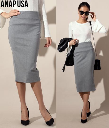 バックスリットタイトフィットスカート