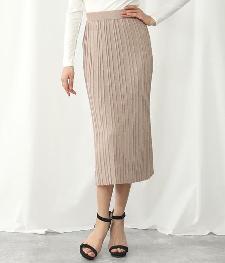 ラメストレッチリブ切替スカート(ボトムス・パンツ /スカート) | Alluge
