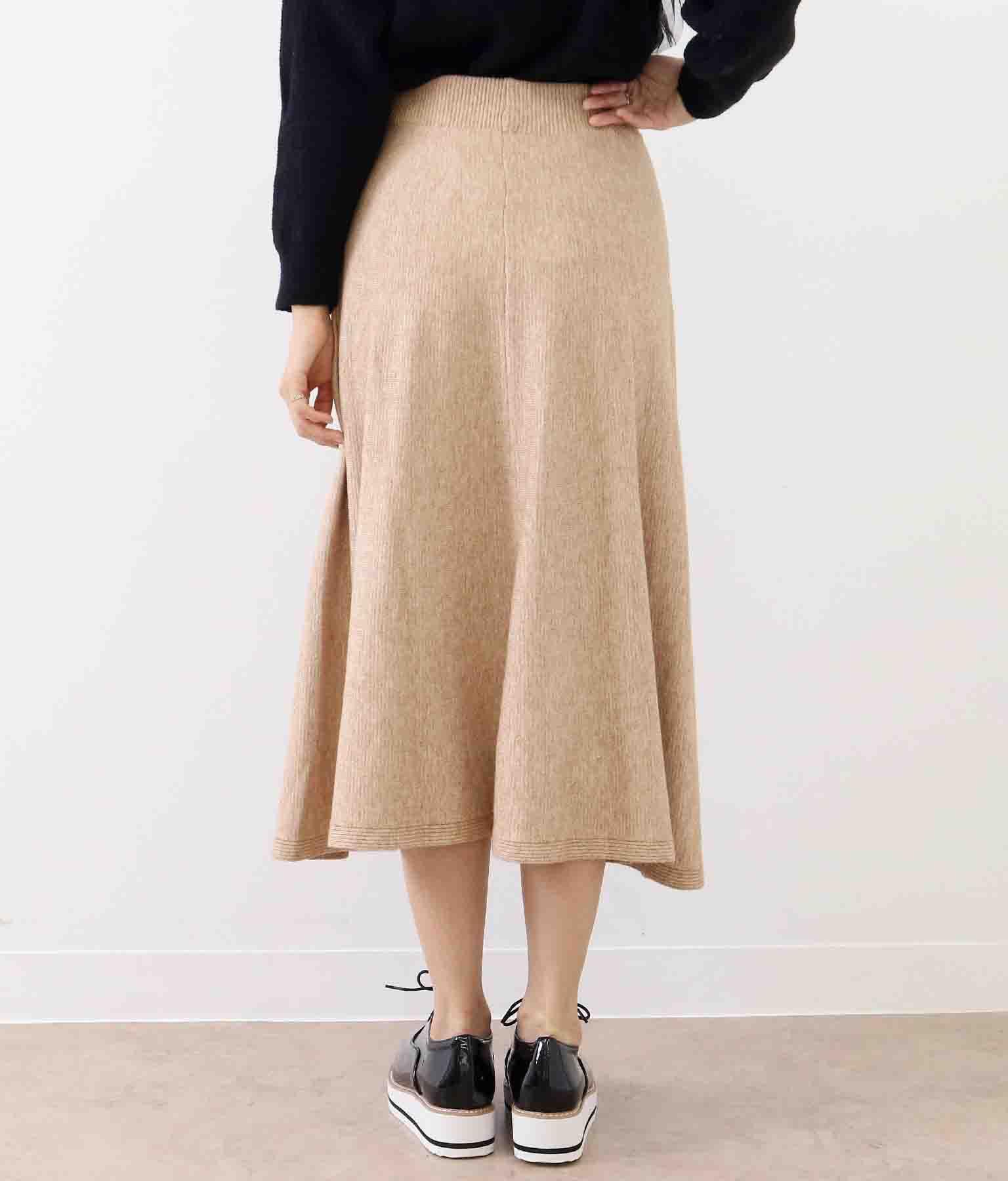 パールボタン付きフレアニットスカート(ボトムス・パンツ /ミモレ丈スカート・スカート)   CHILLE