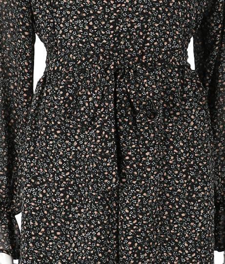 ウエストギャザーフロントボタン小花柄ワンピース(ワンピース・ドレス/ロングワンピ) | CHILLE