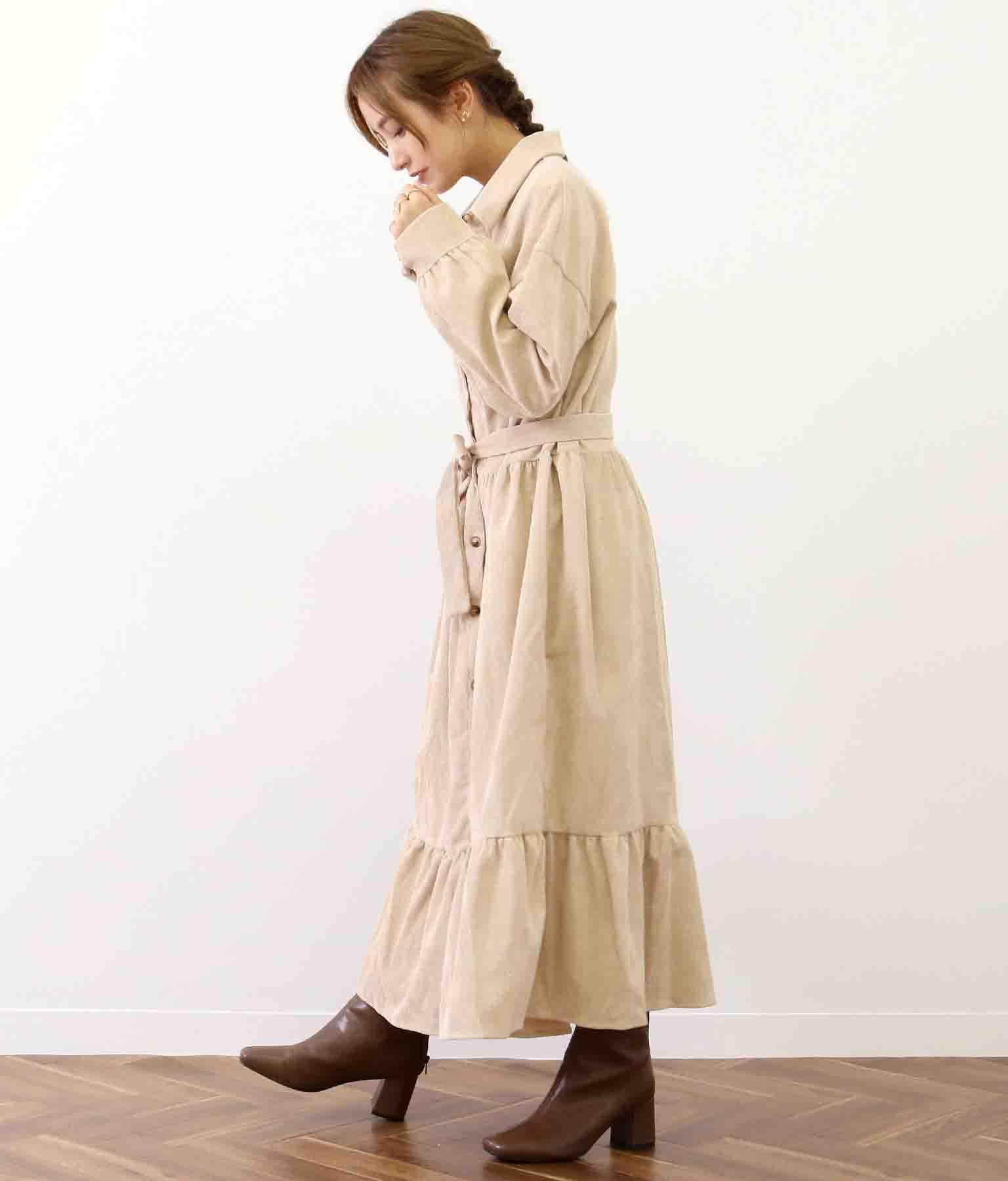 コーデュロイティアードワンピース(ワンピース・ドレス/ロングワンピ・マキシ丈ワンピース) | CHILLE