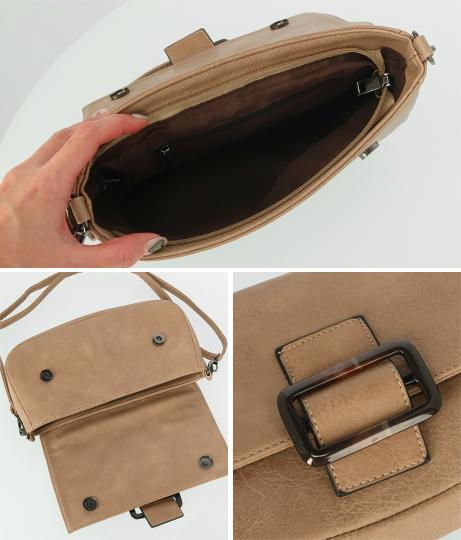 3WAYベッコウバックルスクエアバッグ(バッグ・鞄・小物/クラッチバッグ・ハンドバッグ・ショルダーバッグ)   ANAP