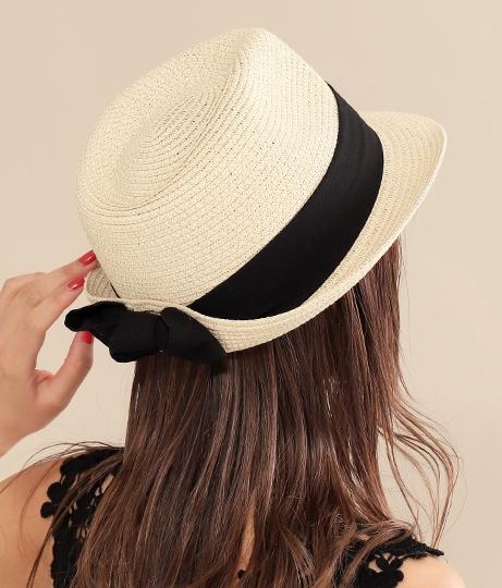 UVバックリボン中折HAT(ファッション雑貨/ハット・キャップ・ニット帽 ・キャスケット・ベレー帽) | Alluge