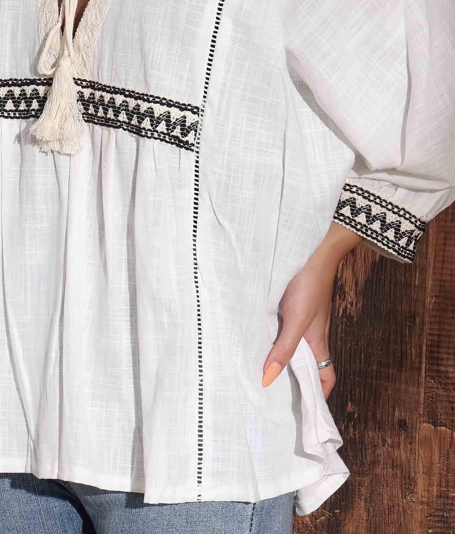 ギザギザ刺繍ブラウス | anap mimpi