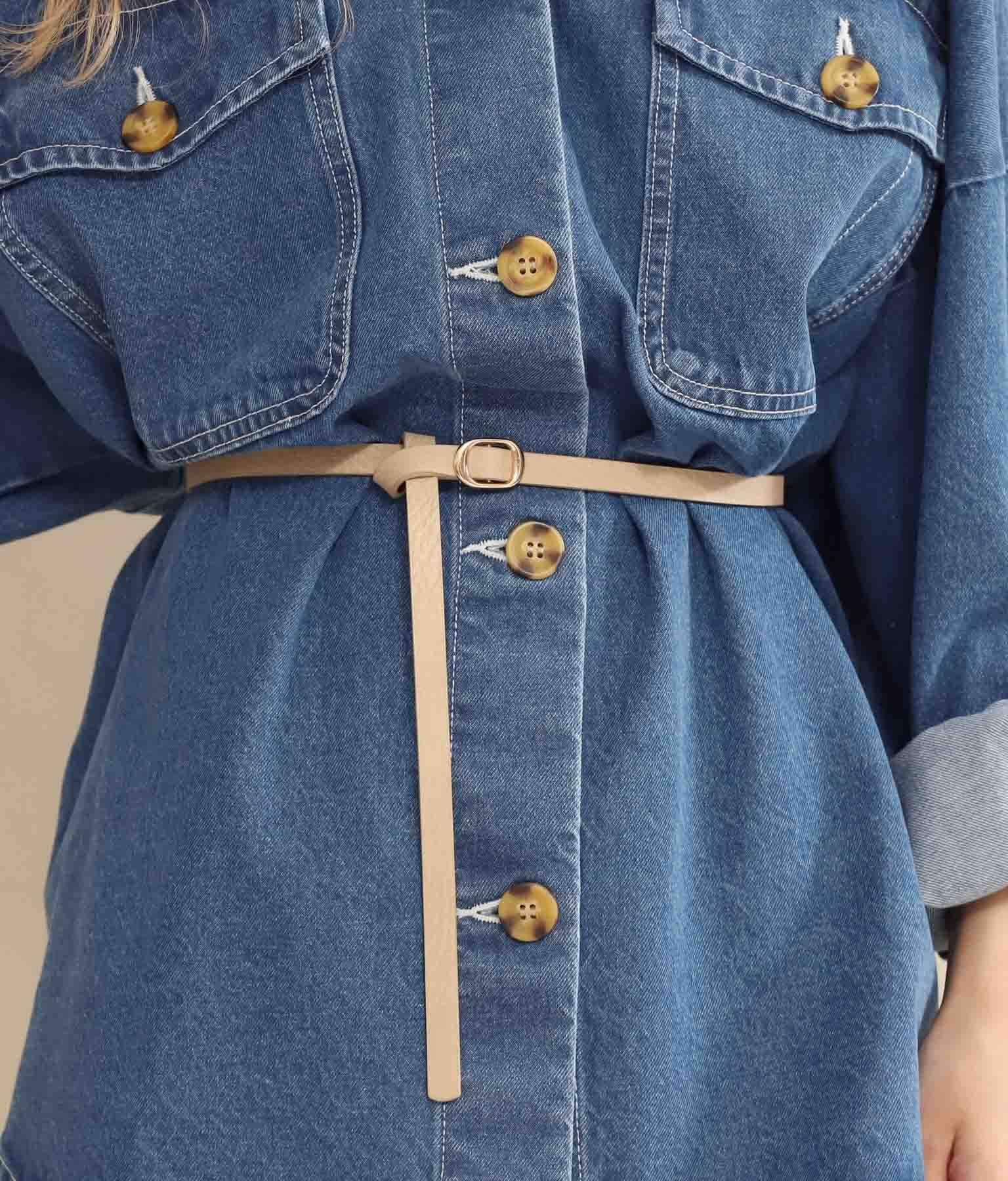 リバーシブル細ベルト(ファッション雑貨/ベルト) | CHILLE