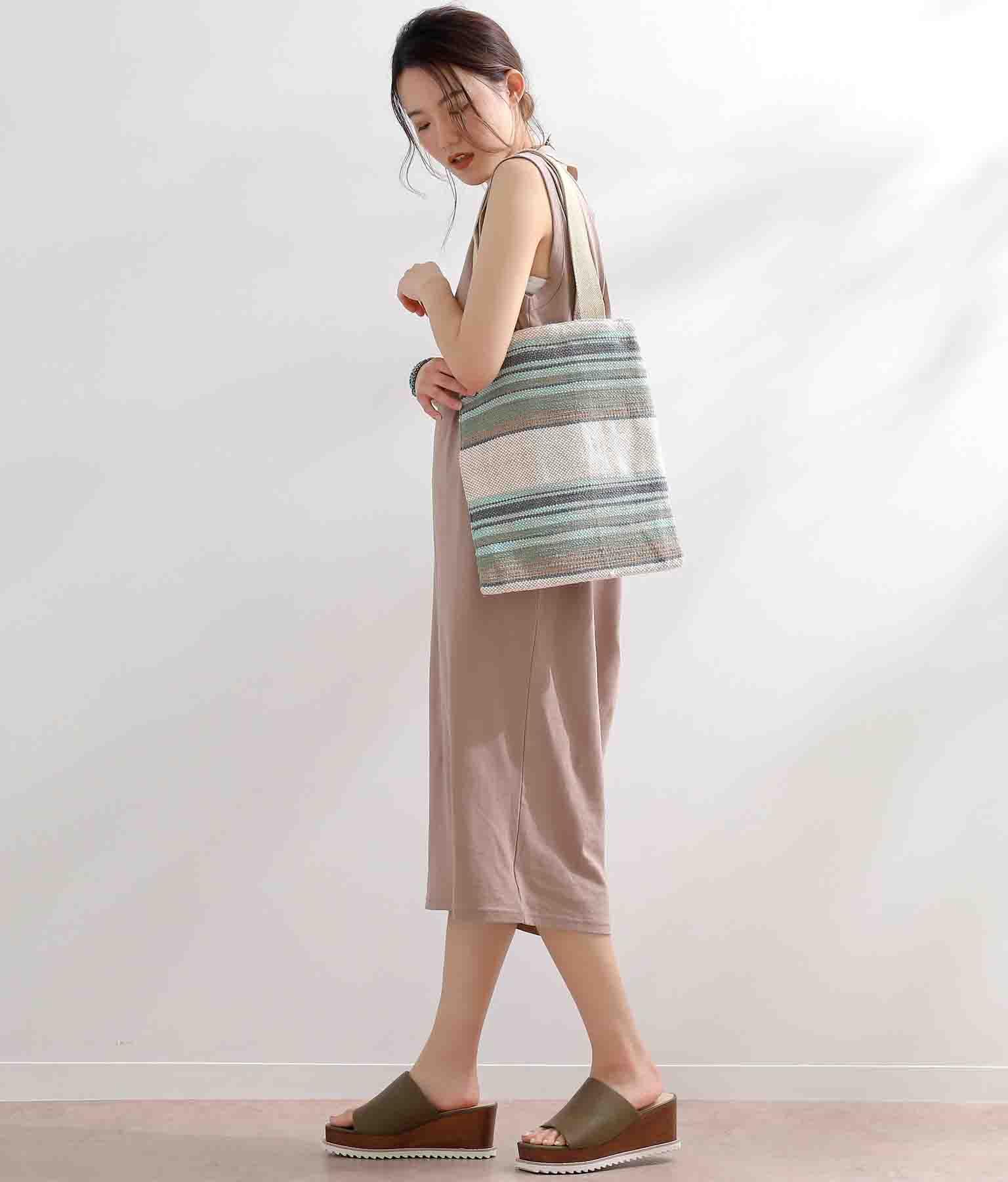 ジャガードハードキャンバストートバッグ(バッグ・鞄・小物/トートバッグ) | Alluge