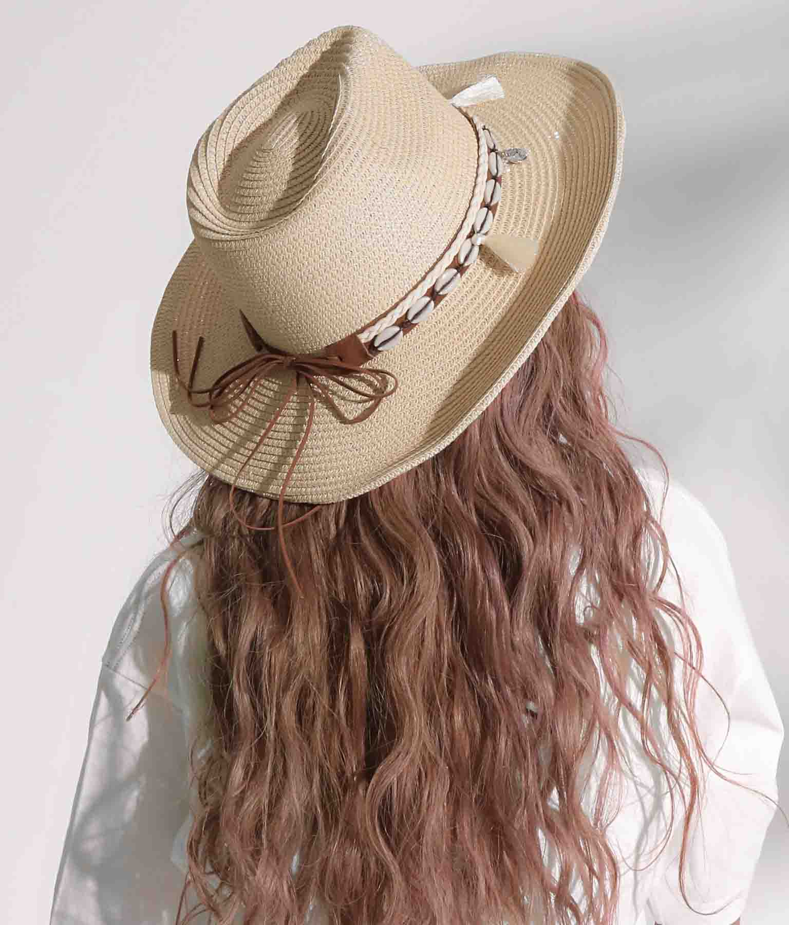 シェルタッセル付きストローハット(ファッション雑貨/ハット・キャップ・ニット帽 ・キャスケット・ベレー帽)   anap mimpi