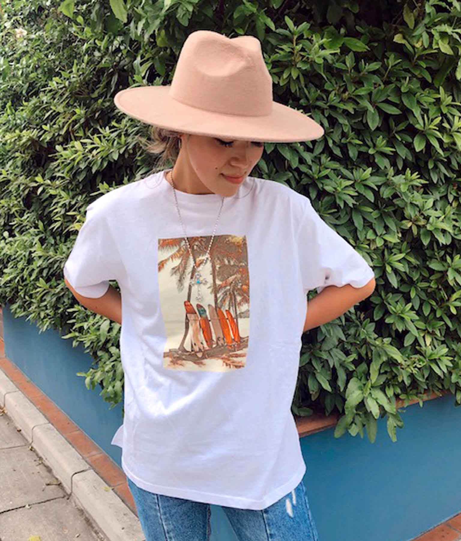 サーフボードプリントビックTシャツ
