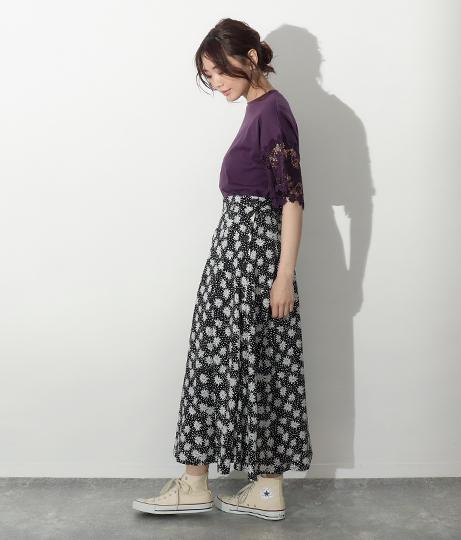 サイドボタンフレアスカート(ボトムス・パンツ /スカート) | AULI