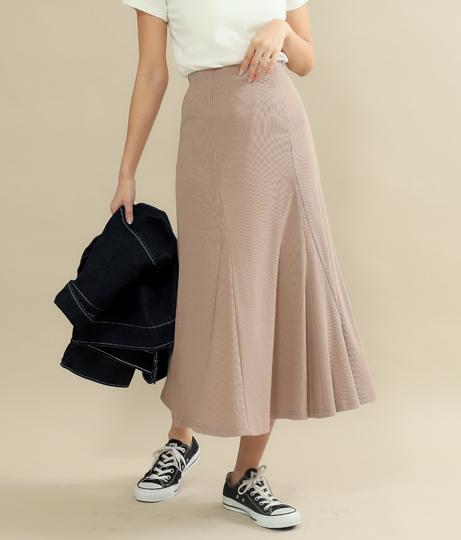 テレコリブチューリップスカート