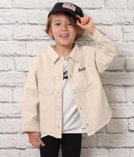 バックプリントツイルシャツ(トップス/シャツ・ブラウス・ジャケット・ブルゾン) | ANAP KIDS