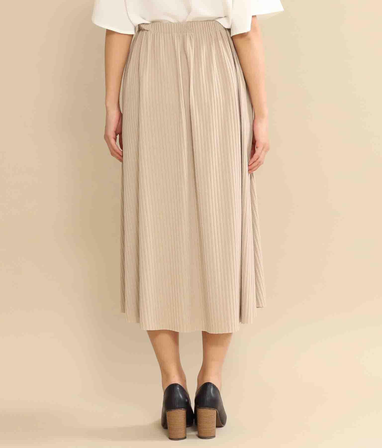 フロントボタンデザインリブフレアスカート(ボトムス・パンツ /スカート)   CHILLE