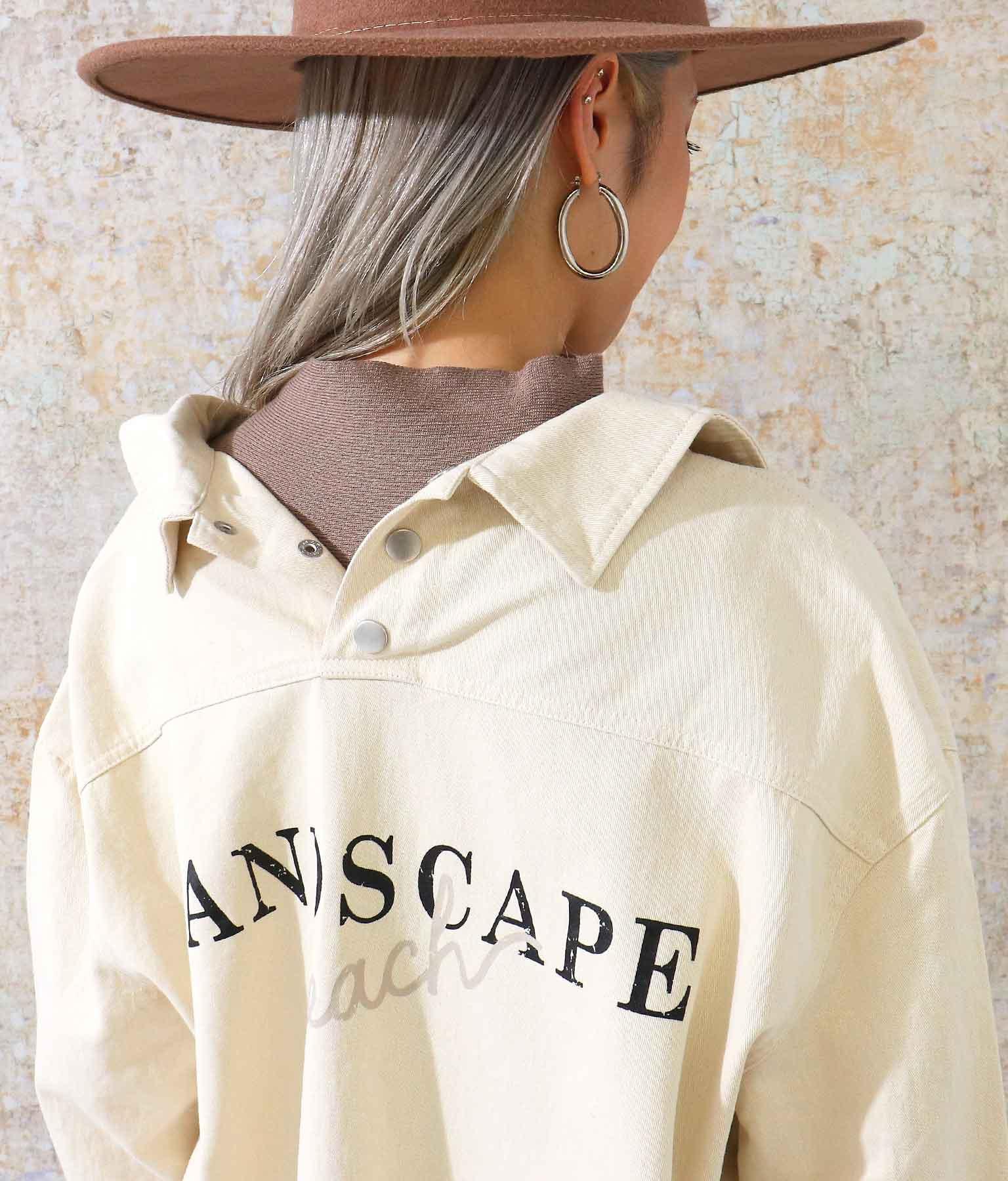 バックプリントツイルシャツトップス | ANAP