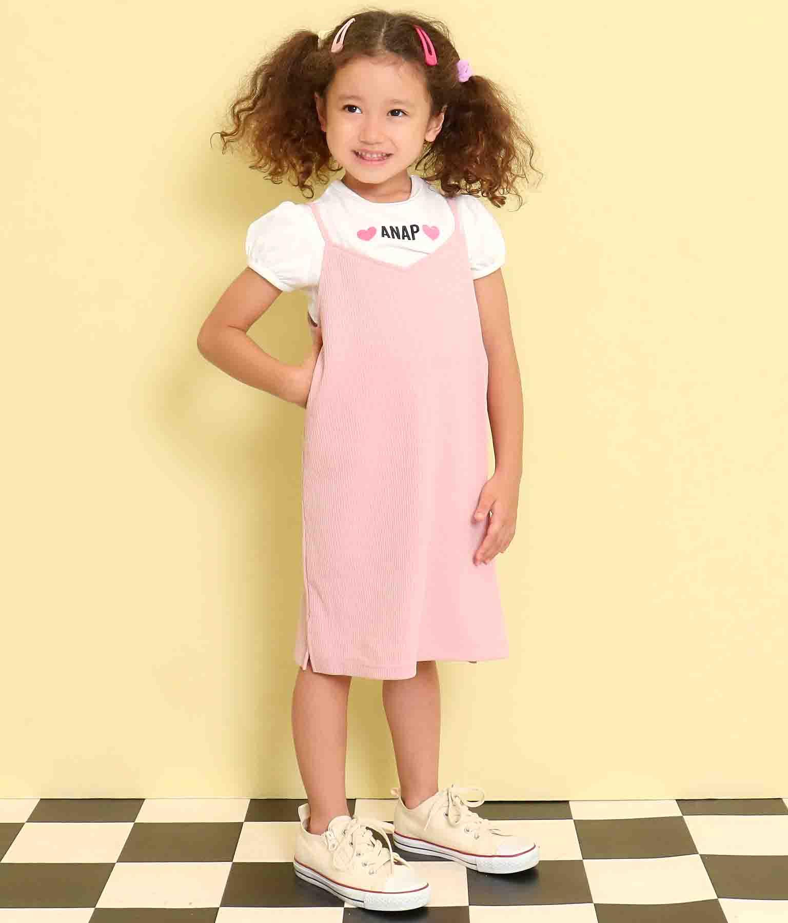 テレコリブキャミソールワンピース(ワンピース・ドレス/ミニワンピ) | ANAP KIDS