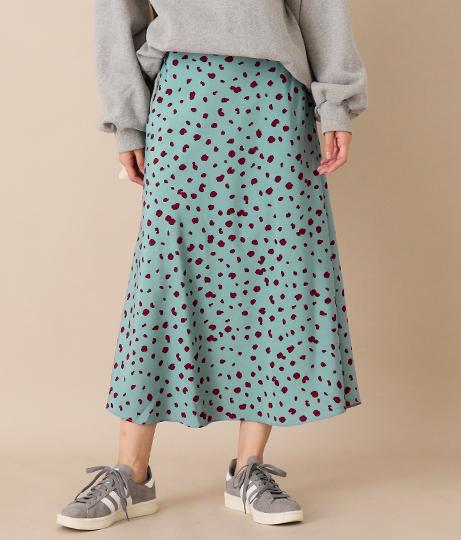 ヴィンテージドットスカート