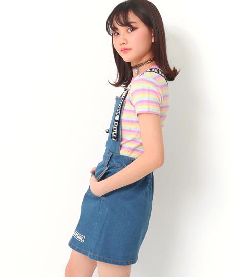 ハートジップ付ジャンパースカート(ワンピース・ドレス/サロペット/オールインワン) | ANAP GiRL
