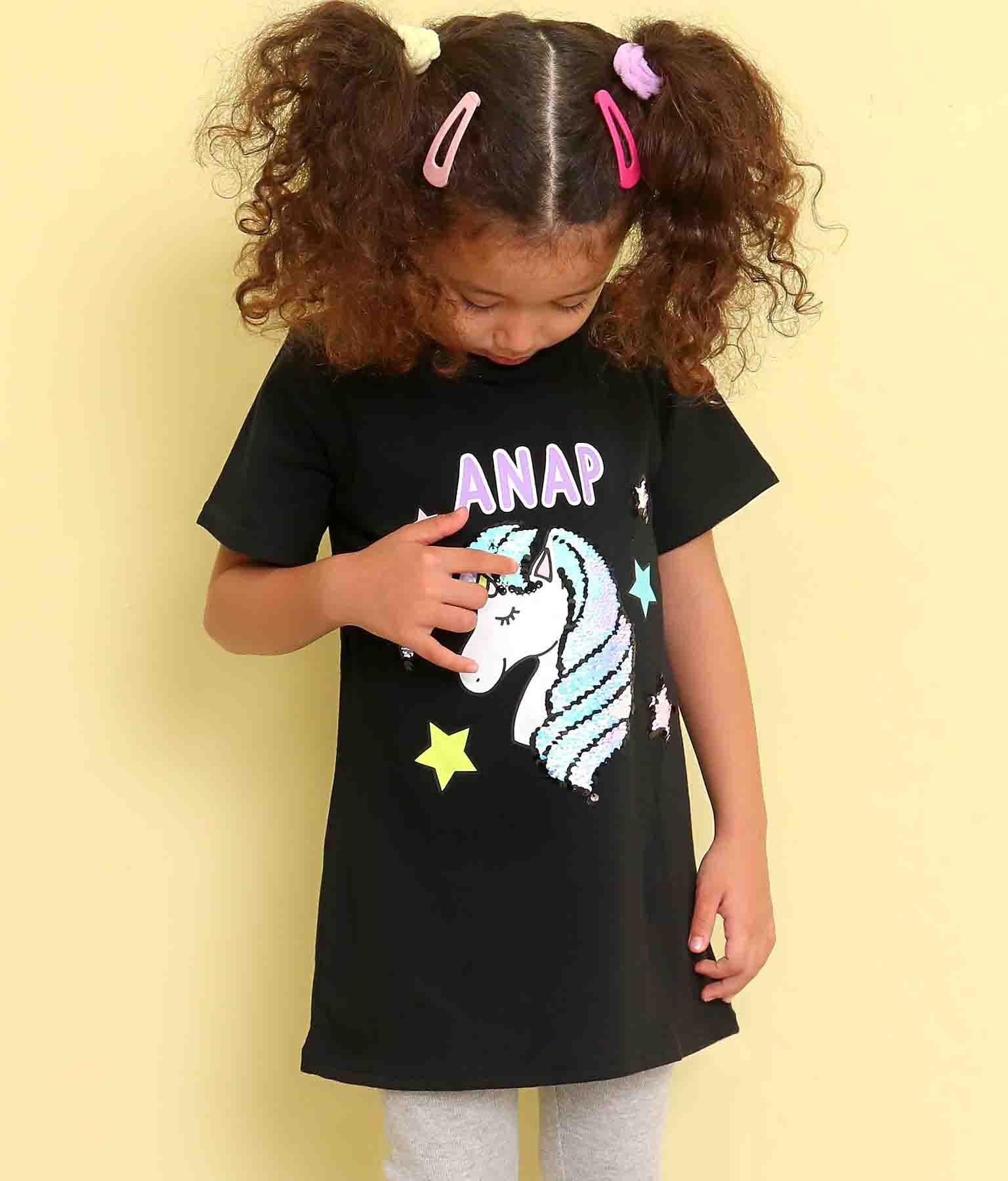 ユニコーンスパンコールチュニック(トップス/Tシャツ・チュニック)   ANAP KIDS