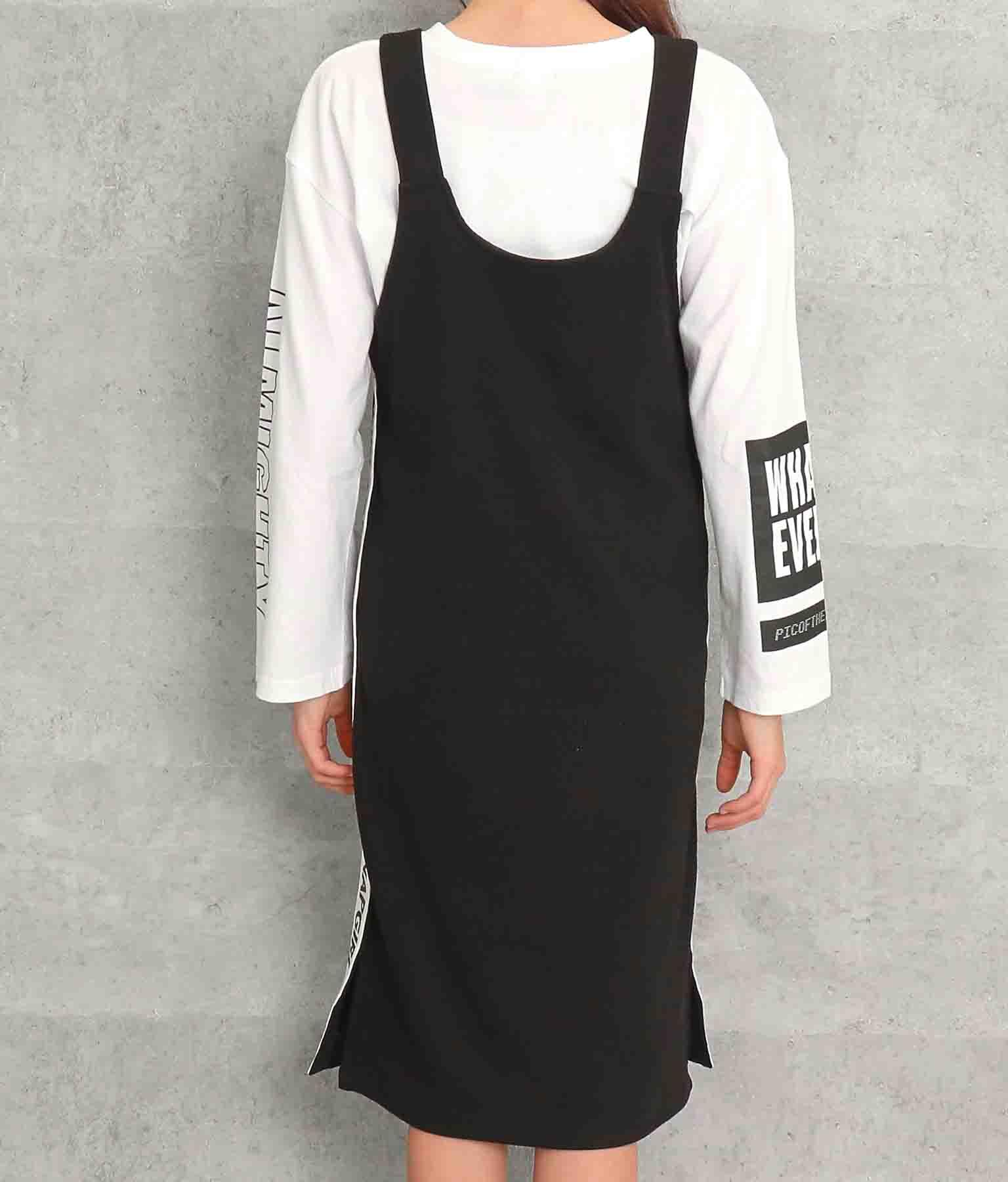 サイドロゴテープ付リブジャンパースカート(ワンピース・ドレス/ミディアムワンピ) | ANAP GiRL